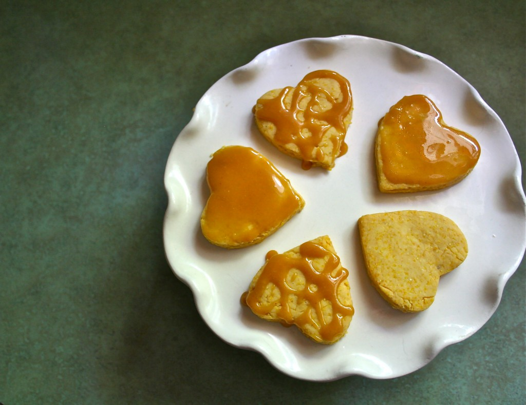 Polenta and Honey Cookies with Homemade Caramel from Anecdotes & Applecores