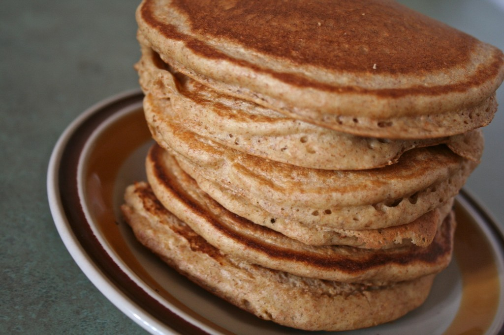Whole Grain Pancakes with Strawberry Agave Syrup | Anecdotes and Apple ...