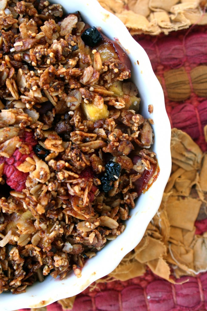 Peach Granola Crisp | Anecdotes and Apple Cores