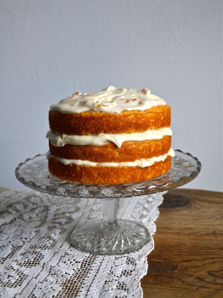 Cornmeal Cake with Honey Apricot Frosting | Anecdotes and ...