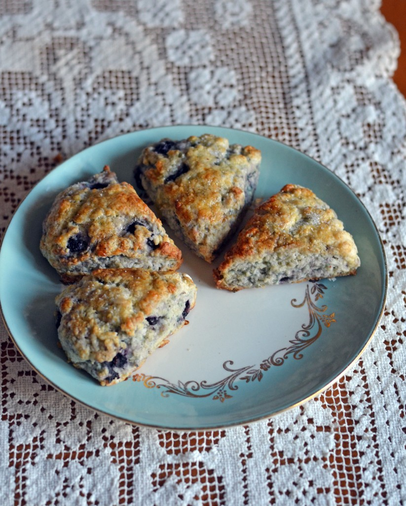Blueberry Rosemary Scones from Anecdotes and Apple Cores