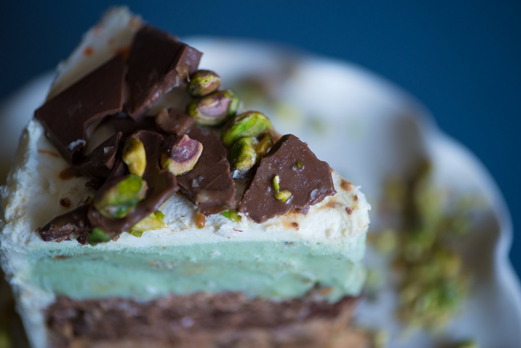 Pistachio Caramel Ice Cream Cake | Anecdotes and Apple Cores