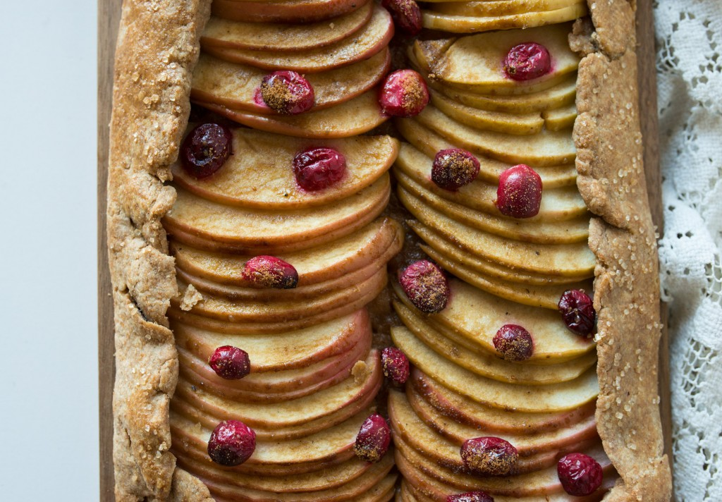 Apple Cranberry Slab Tart