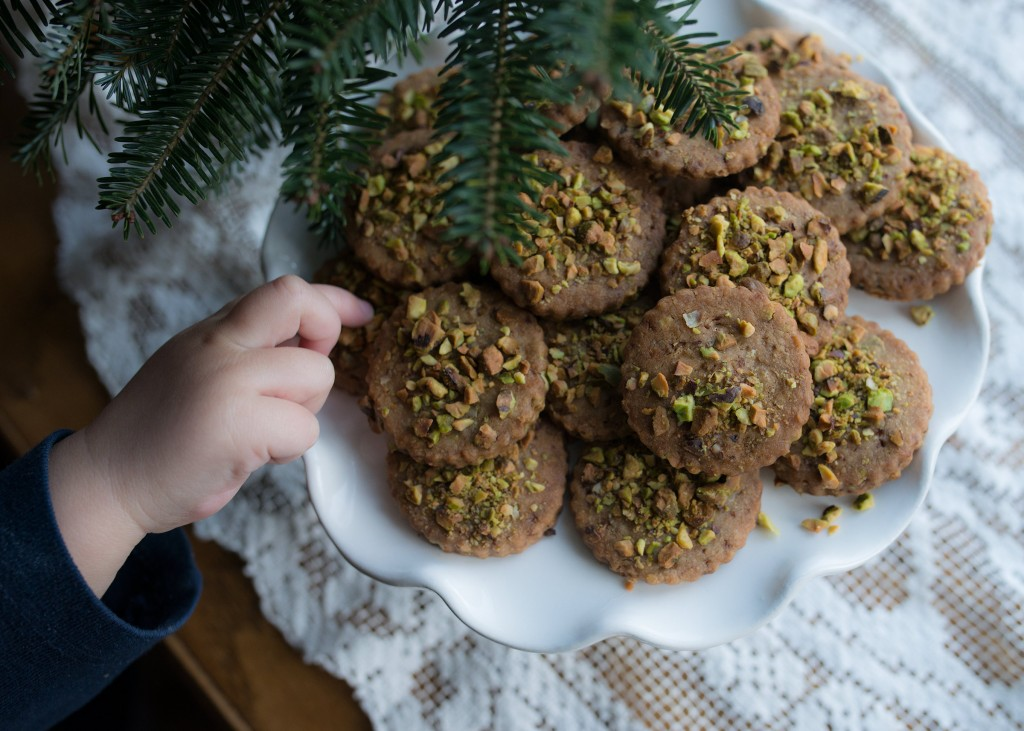 Pistachio Shortbread with Coconut Sugar